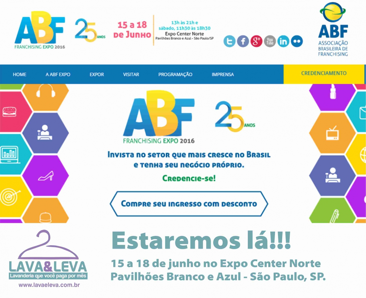 Noticias Lava e Leva na ABF Expo Franchising SP 2016
