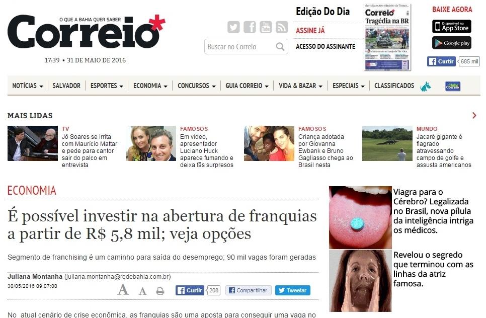 Jornal Correio de Salvador, BA